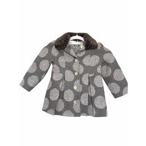 Cherokee Polka Dots Wool Blend Jacket Coat Size 3T